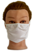 White Fabric Mask